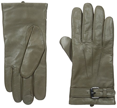 Cole Haan Men's Basic Leather Glove with Belt, Fatigue, M...