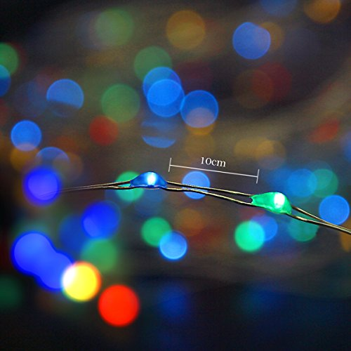 Binval Solar String Lights, 72ft 200Led, Copper Wire Led String Lights Ambiance lighting for Patio, Lawn, Garden, Landscape, Home, Wedding, Christmas Party, Xmas Tree, Waterproof (Multi Color,2-Pack) by Binval (Image #1)