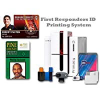 First Responders Printer System & Supplies Bundle with Card Imaging Software for Police, Fire, & Paramedics