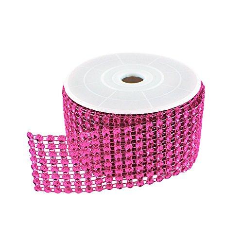 Diamond Sparkling Rhinestone Mesh Ribbon Roll for Arts & Crafts, Event Decorations, Wedding Cake, Birthdays, Baby Shower, 1.5