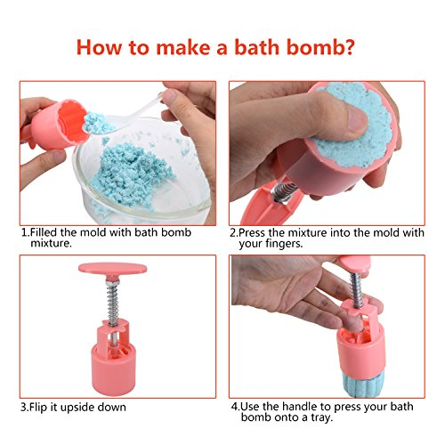 Bath Bomb Mold Kit /& Bath Bombs Press for DIY Making Supplies Tool 1 Barrel 6 Stamps