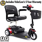 Pride Go-Go Elite Traveller 3-Wheel Scooter with 18 AH Battery Incl 5 Year Protection Plan