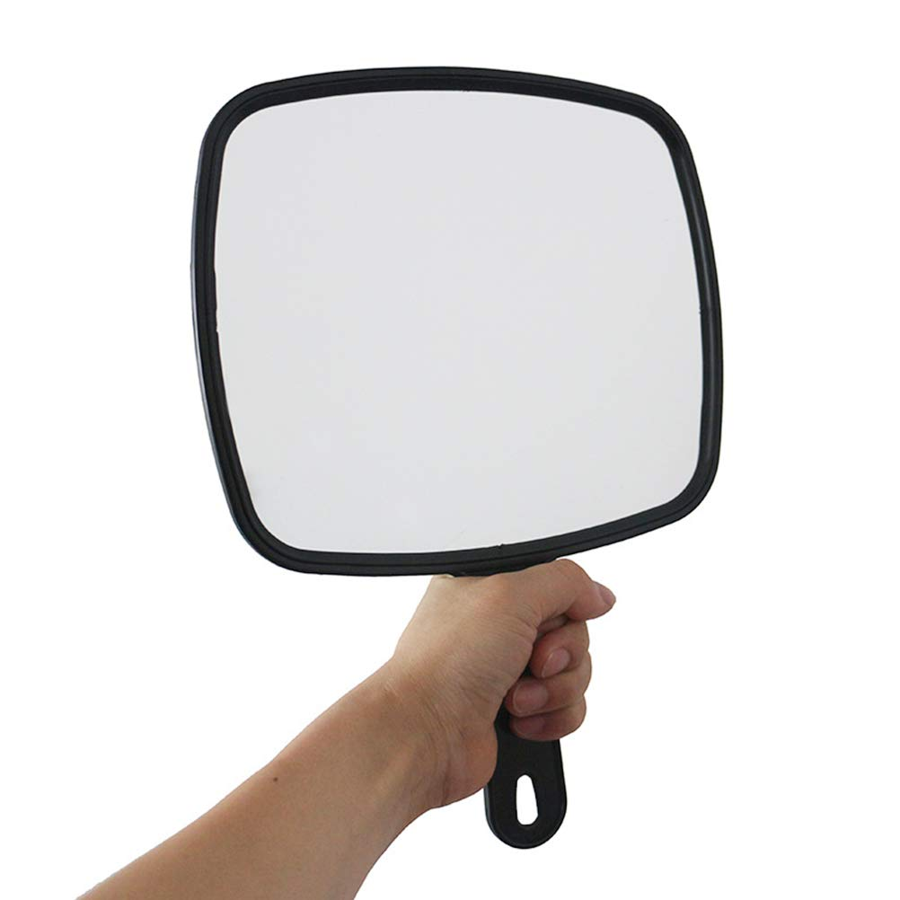 Hand Held Mirror Hairdressing Professional Salon Style Hand Held Vanity Mirror Makeup Tool,8 Pieces