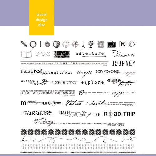 (Xyron Travel Themed Design Disc for Xyron Design Runner)