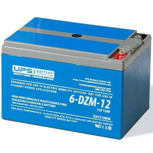12V 12Ah 6-DZM-12 Deep Cycle Mobility Battery - Genuine Deep Cycle Battery