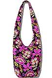 Hippie Crossbody Bag Thai Top Zip Hobo Sling Bag Handmade Hipster Messenger Bag (Green)