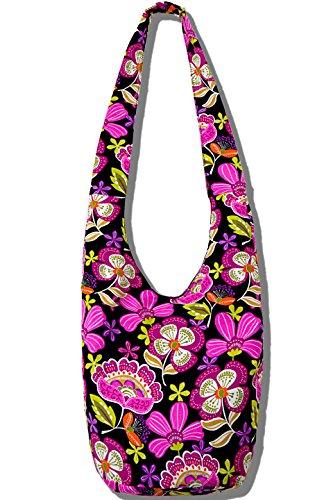 (Hippie Crossbody Bag Thai Top Zip Hobo Sling Bag Handmade Hipster Messenger Bag (Green))