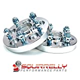 Squirrelly Hubcentric Wheel Spacers Adapters 5x100 / 12x1.25 / 56.1mm Center Bore / 20mm Thick (2 Pack)