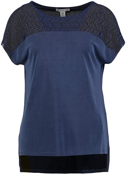 34//36//38 Top DONNA BLUSA SHIRT shoulder maglietta CON RICAMO Pullover Tg