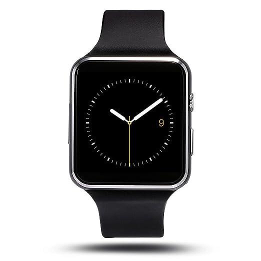 Soloking T60 Smartwatch,Bluetooth 3.0 Reloj Inteligente 1.54Curved Screen Fitness Tracker con