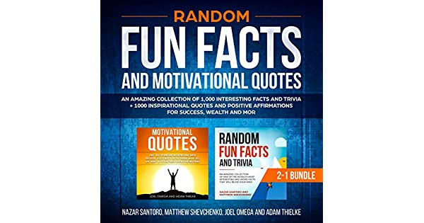 Random Fun Facts And Motivational Quotes 2 1 Bundle An