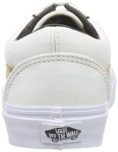 Fourgonnettes Vieux Skool Sneakers Liège Sergé / Classique Blanc Hommes 7