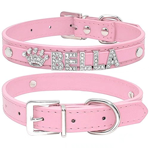 Pictures of Didog Smooth PU Leather Custom Dog Collars 1