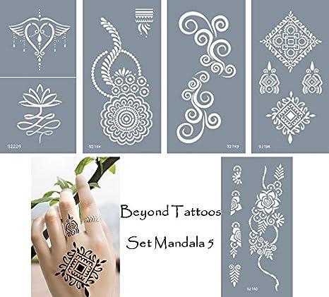 Plantillas para tatuajes, autoadhesivas y reutilizables, 5 ...