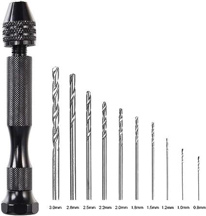 SHENYUAN 25 PCS 0.5mm-3mm Twist Drill Bit Set Crafts Jewelry DIY Woodworking Mini Drill Bits Micro Drill Bits