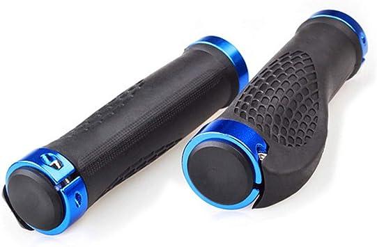 1 par Bicicleta Puños de Manillar Antideslizante Caucho Puños de Bicicleta Barra de Manija con Cerradura de Aluminio Accesorios de Ciclismo para MTB BMX Downhill por SamGreatWorld, Estilo D: Amazon.es: Deportes y