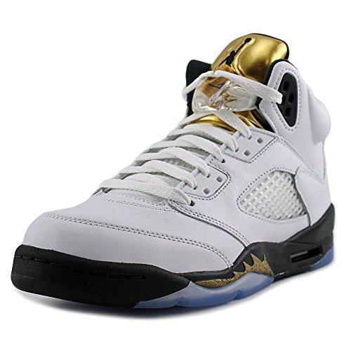 Nike Boys' Air Jordan 5 Retro Bg Basketball Shoes White
