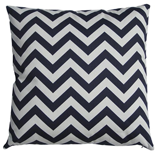 Navy blue and white Chevron Throw Pillow Cover, Cushion, Accent Pillow, Euro Sham, Cushion Cover - 26