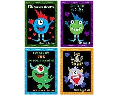 Amazon.com: Silly Monsters Valentines Cards for Classroom