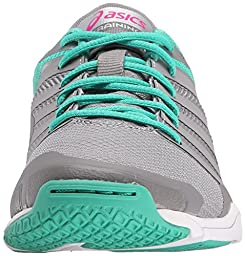 ASICS Women\'s Met Conviction Fitness Shoe, Taupe/Pink Glow/Peacock Green, 9.5 M US