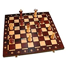 Ambassador Combination Chess Set - Brown 21 inch x 21 Inch