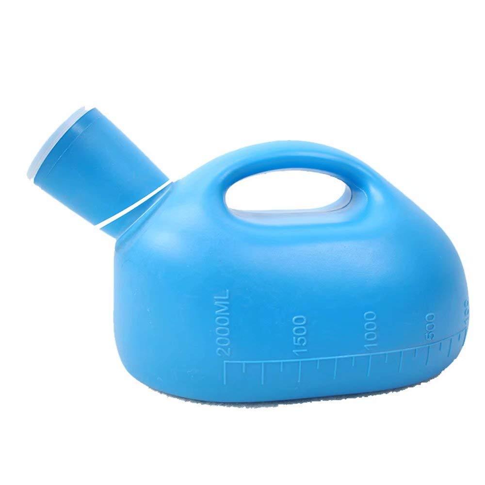 Sooiy Orinatoio per Gli Anziani di Grande capacit/à Maschile e Femminile con Coperchio Notte Pot orinatoio Adulto Vaso Letto Ispessimento urinario Urine Bottle,Blue