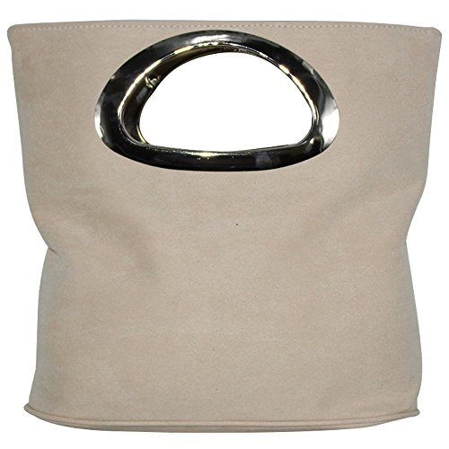 Wiwsi Evening Clutches Purses Top Handle for Women/Lady Handbag Casual Tote Bag (ivory)