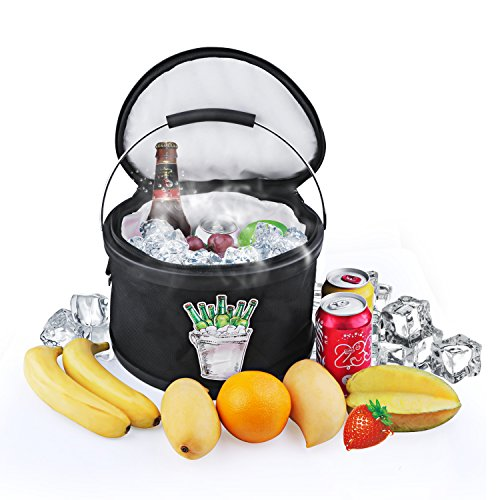 insulated clear ice bucket - 9