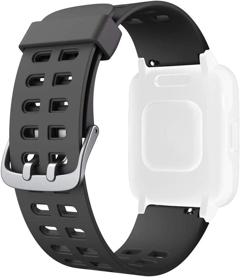 HOTSO Correa para Reloj Inteligente ID205 ID205L ID205S, Correas de Repuesto para Mujer y Hombre Silicona Smart Band de Reemplazo Compatible con La Mayoría de Pulseras con Bandas de 23mm de Ancho