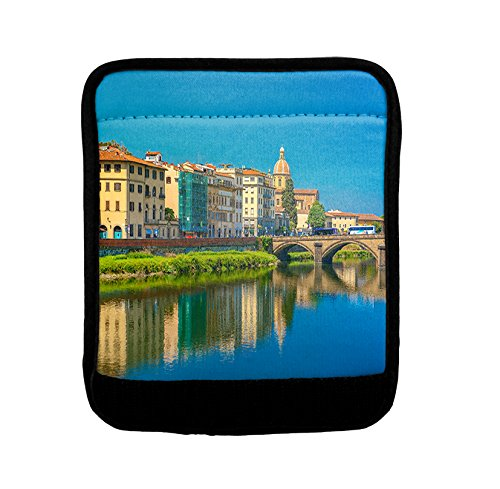 Quay Of River Arno In Florence Italy Luggage Handle Wrap Finder