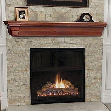 amazon com lindon fireplace mantel shelf finish cherry distressed rh amazon com cherry fireplace mantels york pa cherry fireplace mantel designs
