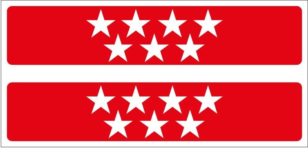 Artimagen Pegatina Rectángulo Bandera Madrid 2 uds. 100x20 mm/ud.: Amazon.es: Coche y moto
