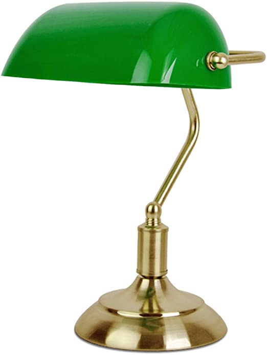 MiniSun - Lámpara de mesa tradicional de escritorio de banquero ...