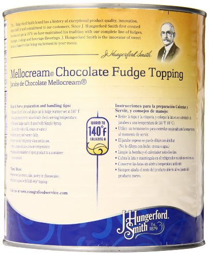 Amazon.com : J. Hungerford Smith Fudge Topping, Mellocream Chocolate, 8 Pound : Dessert Toppings : Grocery & Gourmet Food