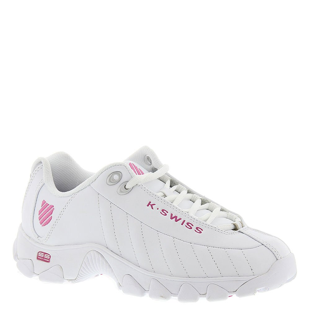 K-Swiss Women's ST329 CMF Trainer Lifestyle Sneaker, White/Shocking Pink, 6.5 M US