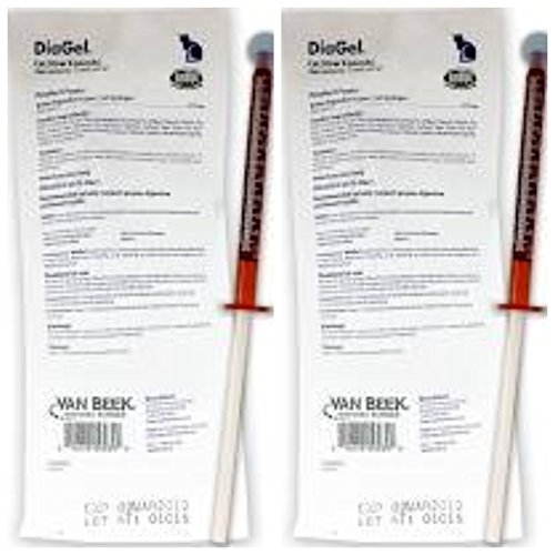DiaGel Diarrhea Control Gel for Cats Over 6 Pounds, 1 mL Syringes, 2 Pack