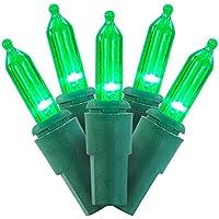 Vendor 2229970 60 Ct UL Green Indoor/Outdoor Christmas, 4.75InL x 6.75InW x 1.77InH