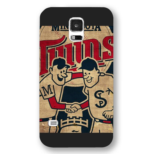 Galaxy S5 Case, Onelee(TM) MLB Minnesota Twins Samsung Galaxy S5 Case [Black Frosted Hardshell]