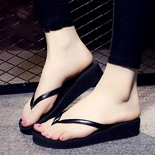 FEI Mules Female Flat Bottom With Non-slip Beach Slippers For Spring And Summer Sandals Casual (Color : 1001, Size : 39) 1003