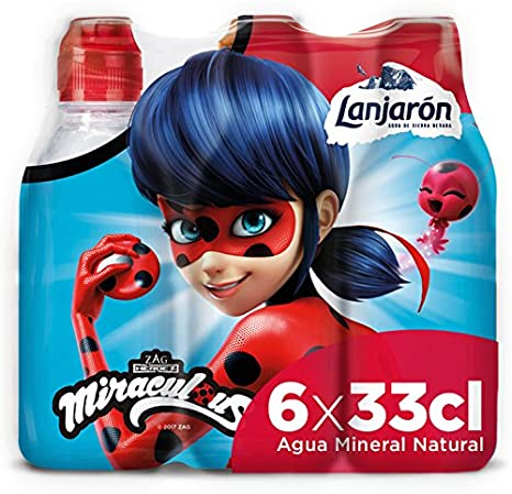 Lanjarón Agua Mineral Natural con Tapón Infantil - Pack 6 x 33 cl: Amazon.es: Amazon Pantry