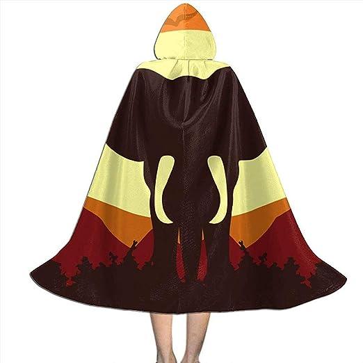 Jasmin-Shop Capa de Halloween Capa, Silueta de Elefante Puesta de ...