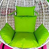 Swing Cushion without Stand Washable and Thick Breathable Comfort Hanging Egg Hammock Bird's Nest Basket Chair Cushions 1 Persons Seater Indoor Outdoor Garden Multi Pattern,Color11