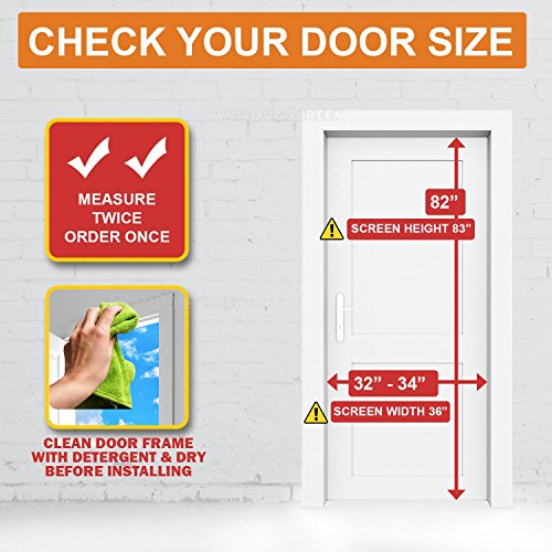 [Pack of 10] Magnetic Screen Door, Quick Install Mesh Curtain, Auto Close Magnets, Pet & Toddler Friendly, Walk Through Hands Free, Fit 32'' - 34'' X 82'' Doors. Stop Bugs & Get Fresh Air Into Your Home! by AntiBugScreen (Image #3)