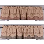 Primitive Home Decors Berry Vine Gingham Check Fairfield Valance - Red or Black