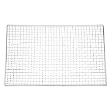SODIAL(R) Metal Squares Holes Grilling Barbecue Wire Mesh 40cm x 25cm