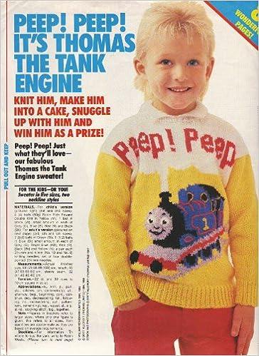 Childrens Adults Intarsia Thomas The Tank Engine Motif Sweater