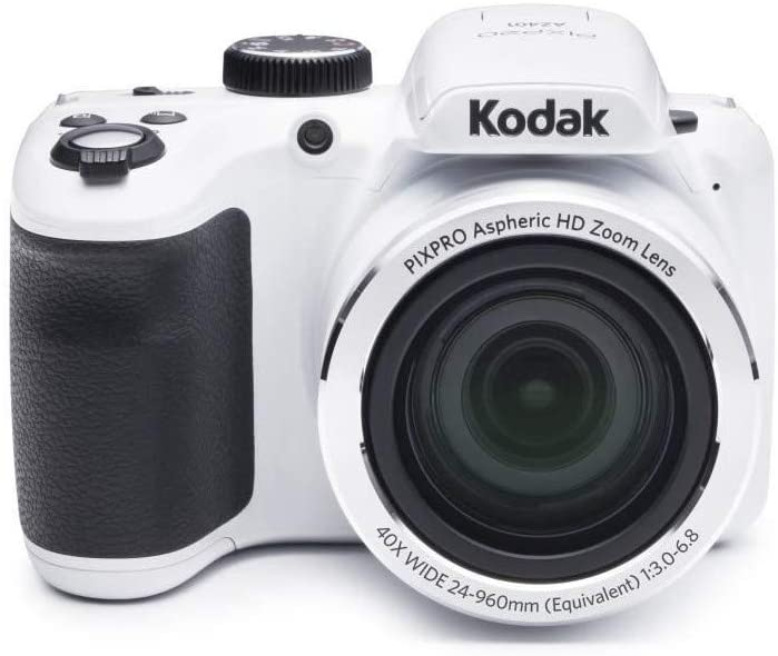 "Kodak AZ401-WH PIXPRO 16MP Digital Camera, 3"", White"