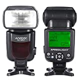 Andoer AD-960II Flash Speedlite with LCD Display Standard Hot Shoe for Canon EOS 5D Mark II III Nikon D7200 D7100 D7000 Sony A6000 A7R and Other DSLR