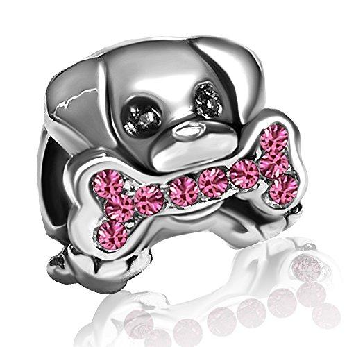 JMQJewelry Dog Paws Done Charms Pink Charms Bead Bracelets