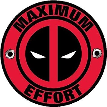 Deadpool decal maximum effort vinyl sticker